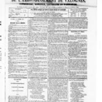 Le Journal de l'arrondissement de Valognes, numéro du 11 octobre 1867