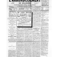 Le Journal de l'arrondissement de Valognes, numéro du 14 avril 1934
