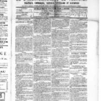 Le Journal de l'arrondissement de Valognes, numéro du 22 octobre 1886