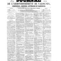 Le Journal de l'arrondissement de Valognes, numéro du 16 juillet 1858