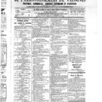 Le Journal de l'arrondissement de Valognes, numéro du 10 septembre 1875