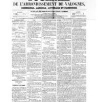 Le Journal de l'arrondissement de Valognes, numéro du 01 juillet 1859