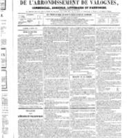 Le Journal de l'arrondissement de Valognes, numéro du 10 mars 1865