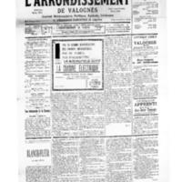 Le Journal de l'arrondissement de Valognes, numéro du 12 août 1939
