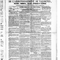 Le Journal de l'arrondissement de Valognes, numéro du 02 juillet 1880