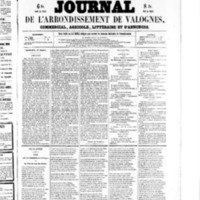 Le Journal de l'arrondissement de Valognes, numéro du 31 octobre 1856