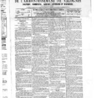 Le Journal de l'arrondissement de Valognes, numéro du 17 décembre 1875