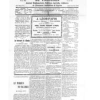 Le Journal de l'arrondissement de Valognes, numéro du 22 mars 1930