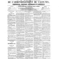Le Journal de l'arrondissement de Valognes, numéro du 29 octobre 1858