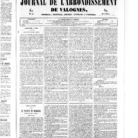 Le Journal de l'arrondissement de Valognes, numéro du 17 mai 1850