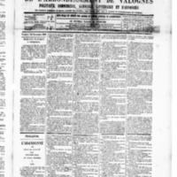 Le Journal de l'arrondissement de Valognes, numéro du 22 novembre 1889