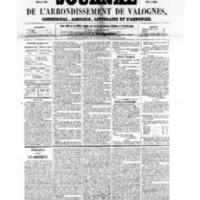 Le Journal de l'arrondissement de Valognes, numéro du 23 septembre 1859