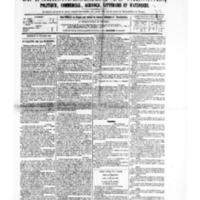 Le Journal de l'arrondissement de Valognes, numéro du 14 octobre 1881