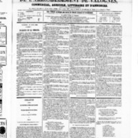 Le Journal de l'arrondissement de Valognes, numéro du 12 avril 1867