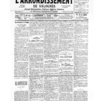 Le Journal de l'arrondissement de Valognes, numéro du 25 novembre 1939
