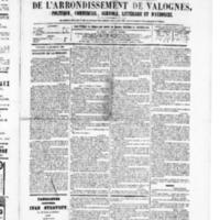 Le Journal de l'arrondissement de Valognes, numéro du 10 décembre 1880