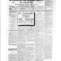 Le Journal de l'arrondissement de Valognes, numéro du 26 janvier 1935