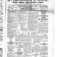 Le Journal de l'arrondissement de Valognes, numéro du 12 septembre 1879