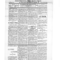 Le Journal de l'arrondissement de Valognes, numéro du 21 janvier 1928