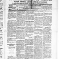 Le Journal de l'arrondissement de Valognes, numéro du 19 avril 1889