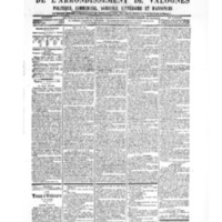 Le Journal de l'arrondissement de Valognes, numéro du 08 décembre 1905