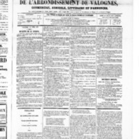 Le Journal de l'arrondissement de Valognes, numéro du 19 avril 1867