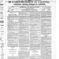Le Journal de l'arrondissement de Valognes, numéro du 31 mai 1867