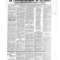 Le Journal de l'arrondissement de Valognes, numéro du 25 janvier 1907