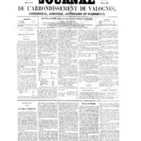 Le Journal de l'arrondissement de Valognes, numéro du 22 janvier 1858