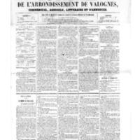 Le Journal de l'arrondissement de Valognes, numéro du 11 mars 1859