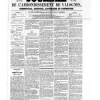 Le Journal de l'arrondissement de Valognes, numéro du 28 janvier 1859
