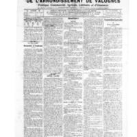 Le Journal de l'arrondissement de Valognes, numéro du 16 avril 1909