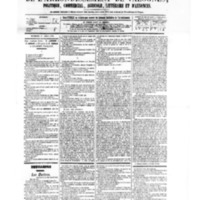Le Journal de l'arrondissement de Valognes, numéro du 11 avril 1879