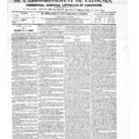 Le Journal de l'arrondissement de Valognes, numéro du 02 août 1867