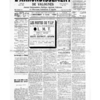 Le Journal de l'arrondissement de Valognes, numéro du 02 novembre 1935