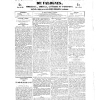 Le Journal de l'arrondissement de Valognes, numéro du 07 juillet 1854