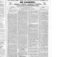 Le Journal de l'arrondissement de Valognes, numéro du 02 juillet 1852