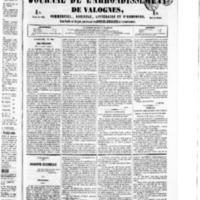 Le Journal de l'arrondissement de Valognes, numéro du 21 mai 1852