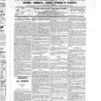 Le Journal de l'arrondissement de Valognes, numéro du 01 octobre 1875