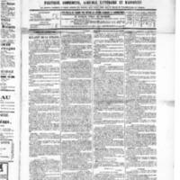 Le Journal de l'arrondissement de Valognes, numéro du 15 octobre 1886