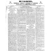 Le Journal de l'arrondissement de Valognes, numéro du 14 juillet 1854