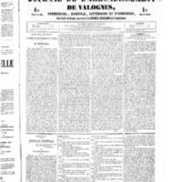 Le Journal de l'arrondissement de Valognes, numéro du 30 juillet 1852