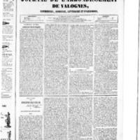 Le Journal de l'arrondissement de Valognes, numéro du 12 mars 1852