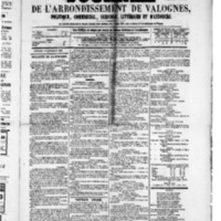 Le Journal de l'arrondissement de Valognes, numéro du 10 septembre 1880