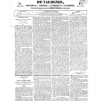 Le Journal de l'arrondissement de Valognes, numéro du 19 mai 1854