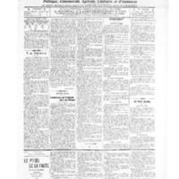 Le Journal de l'arrondissement de Valognes, numéro du 26 mars 1909