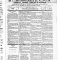 Le Journal de l'arrondissement de Valognes, numéro du 19 juillet 1867
