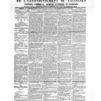 Le Journal de l'arrondissement de Valognes, numéro du 06 octobre 1905