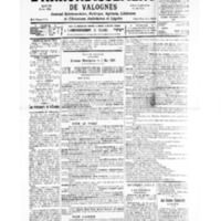 Le Journal de l'arrondissement de Valognes, numéro du 27 avril 1935