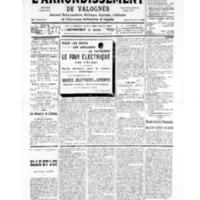Le Journal de l'arrondissement de Valognes, numéro du 24 août 1935